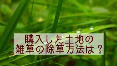 購入した土地の雑草の除草方法8選